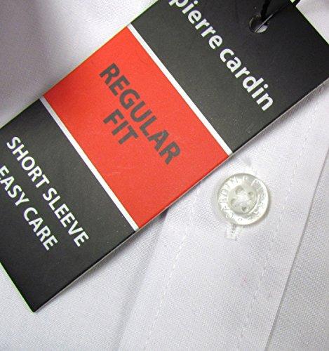 """PIERRE CARDIN """"Regular Fit A"""" homme chemise avec maches courtes(blanc) Blanc"""