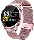Naack - Smartwatch con cardiofrequenzimetro, per donne, uomini, bambini, sport, messaggi, promemoria di fitness, per Android e iOS