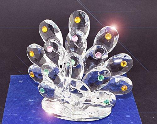 Decorativo cristallo a forma di animale pavone con cristalli swarovski elements in scatola regalo _ uk