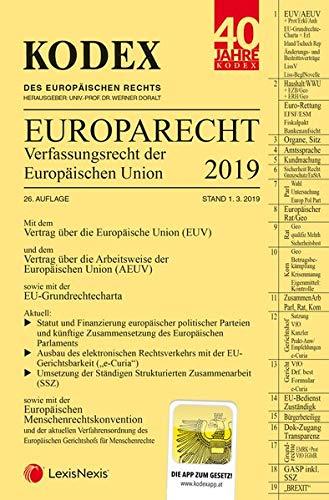 KODEX EU-Verfassungsrecht (Europarecht) 2019