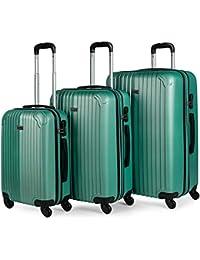 ITACA - Maletas de Viaje Rígidas 4 Ruedas Trolley ABS. Neceser. Resistentes y Ligeras