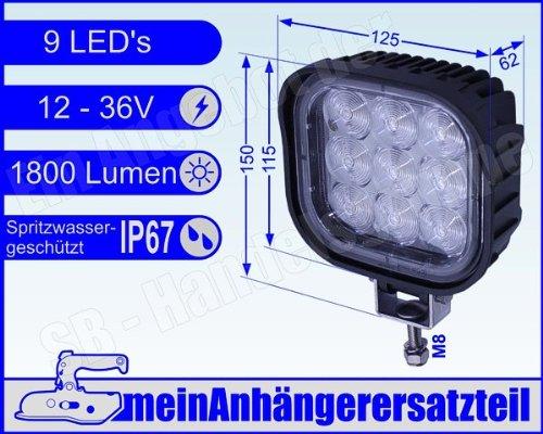 LED Arbeitsscheinwerfer 6000 Kelvin 12V & 24V Arbeitsleuchte Zusatzscheinwerfer