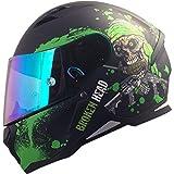 Broken Head Jack S. - Integral-Helm grün - Sport-Motorrad-Helm incl. Pinlock und gratis grün...