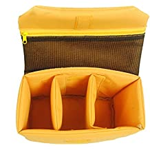 Oxford Wasserdicht Stoßfest Partition Gepolsterte Kamerataschen SLR DSLR einfügen Schutz-Fall für DSLR erschossen oder Flash Light