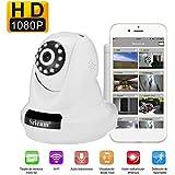 Cámara Video Vigilancia Sricam SP018 LESHP IP WiFi P2P IR Resolución nativa 1080P FullHD 2,0 Megapixels Vision nocturna con Micrófono y altavoz, Detección de movimiento, compatible con iOS, Android