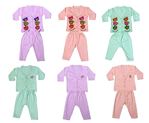 IndiStar Baby Girl's Cotton Clothing Set(Pack of 6)_Assorted Color/Print_Size-6-12 Months_10000-899091929394-IW-B-P6-M