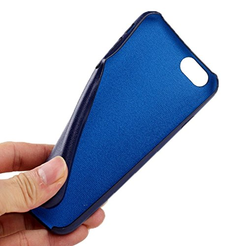Phone case & Hülle Für IPhone 6 Plus / 6S Plus, Ultra-dünne schützende Leder zurück Fall Fall ( Color : Black ) Dark Blue