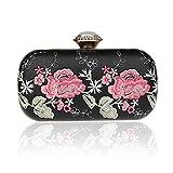 Mini Blume Abend handtaschen,Frau Diamant verkrustete Clutch Bag In ihrem zuhause Am Abend Prom Am Abend Bag Für Präsentiert-A 18x11cm(7x4inch)