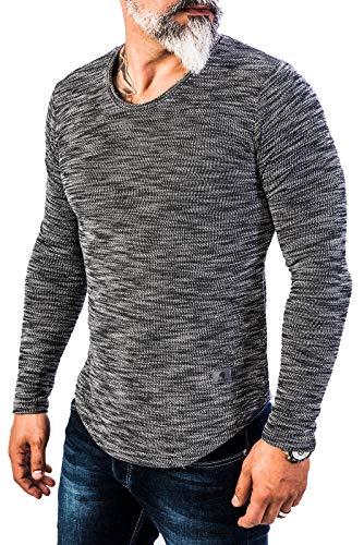 Rock Creek Herren Longsleeve Shirt Langarm Hoodie Sweatshirt Kapuzenpullover Langarmshirt Herrenpulli Street Style H-144 Schwarz XL -