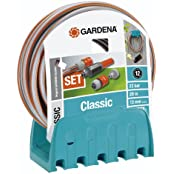 Gardena Classic Wandschlauchhalter mit Schlauch, 20m (18005)