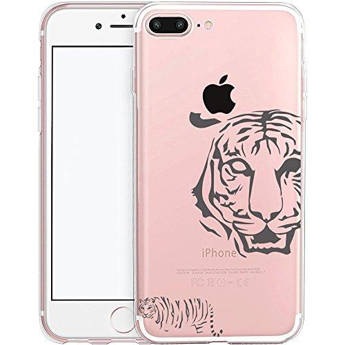 iPhone 7 Plus Hülle, TrendyBox Transparent Weiche TPU Ränder mit hartem PC Rückdeckel Schutzhülle Hülle für iPhone 7 Plus mit Gehärtetem Glas Displayschutzfolie (Bunte Musik) 113