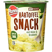 Pfanni Kartoffel Snack Kartoffelpüree mit Käse & Brokkoli, 8er-Pack (8 x 50 g)
