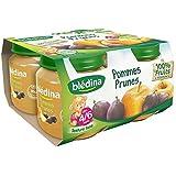 Blédina pots pomme prune 4x130 g des 4/6 mois - ( Prix Unitaire ) - Envoi Rapide Et Soignée