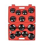 15Tlg. Ölfilterschlüssel Set Ölfilterkappen KFZ Ölfilter Werkzeug Kappe Adapter