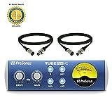 PreSonus TubePre v2 compacto monocanal preamplificador de micrófono XLR con 2 cables
