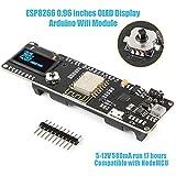 Innovateking-EU Nodemcu ESP8266 OLED Arduino WiFi Modul 0,96 Zoll Anzeige ESP8266 18650 5-12V 500mA Kompatibel mit NodeMCU