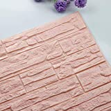 YUHUISTART DIY 3D Brick PE Foam Wallpaper Panels Room Decal Decorazione della Pietra in Rilievo