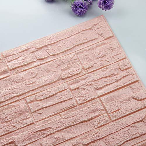 TianranRT DIY 3D Ziegel PE Schaum Tapete Paneele Zimmer Aufkleber Stein Dekoration Geprägte (E) -