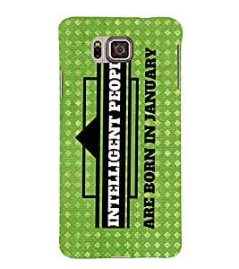 INFORMATIONAL QUOTE IN A GREEN BACKGROUND 3D Hard Polycarbonate Designer Back Case Cover for Samsung Galaxy Alpha G850