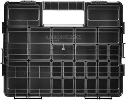 AmazonBasics - Werkzeugbox/Aufbewahrungsbox - 25 Fächer -