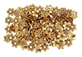 #8: Goelx Antique finish gold bead caps for jewelry making