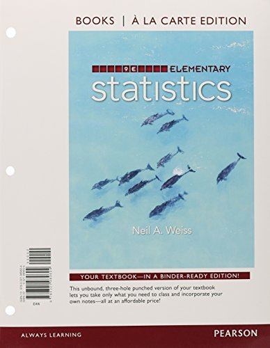 Elementary Statistics, Books a la carte Plus NEW MyStatLab with Pearson eText -- Access Card Package (9th Edition) by Neil A. Weiss (2015-01-18)