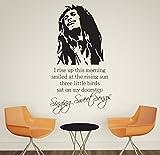 V & C Designs groß Bob Marley Singen Sweet Songs Everything 's Gonna Be Alright Musik Zitat Kinder Wandtattoo Zitat Schriftzug Vinyl Aufkleber Wandbild Transfer Baby Kinderzimmer Kinder Schlafzimmer Kleinkind Raum Geometrische Spielzimmer Dekoration Wand Decor Jungen Raum Mädchen verschiedene Farben erhältlich
