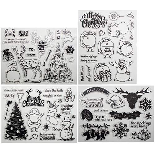 ür Weihnachten Thema DIY Scrapbooking Dekoration Karten Herstellung Christmas Gift Clear Stamps ()