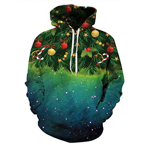 Weihnachtsbaum Wunderland Frauen Mann Sweatshirt Weihnachtsgeschenke L