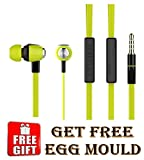 #9: High Quality Universal Smart Earphones with free Egg mould (Colors may vary)