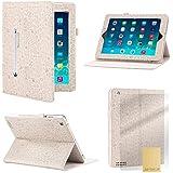 Étui Apple iPad Mini 1, 2 et 3, 32nd [Cute Love] en cuir PU, position vidéo - Blanc