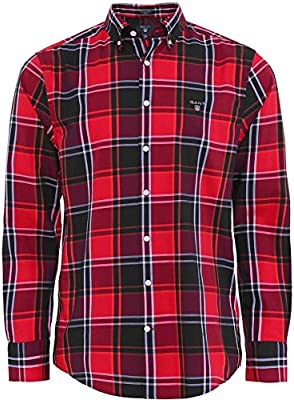 Gant Hombres camisa Sarga tech Rojo