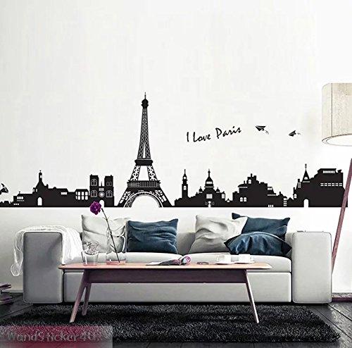 wandsticker4u-xl-wandtattoo-skyline-i-love-paris-schwarz-effektbild-200x80cm-wandsticker-eiffelturm-