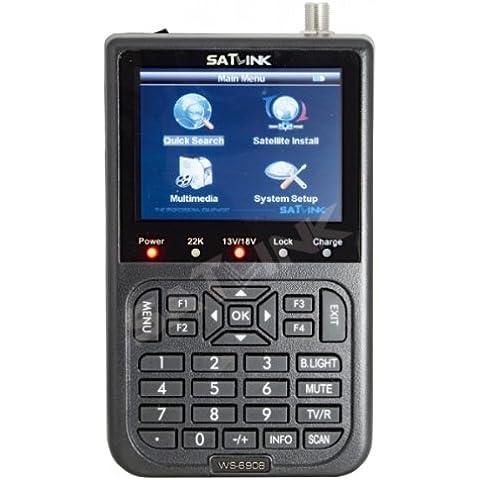 Satlink Satfinder - Buscador de satélite para TV, color negro (importado)