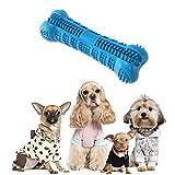 Hamkaw, spazzolino da Denti per Cani, atossico, Resistente ai morsi in Gomma Naturale, Giocattolo da Masticare per Cani, Cuccioli, Animali Domestici, Cura Orale (Blu)