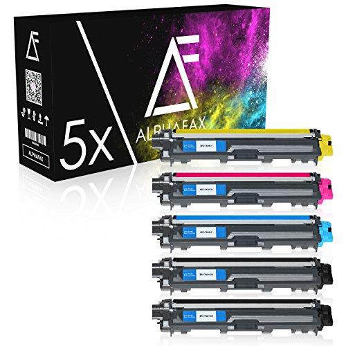 5 Toner kompatibel zu Brother TN-241 TN-245 für Brother MFC-9142CDN, Brother DCP-9022CDW, MFC-9342CDW, MFC-9332CDW, HL-3150CDW, HL-3170CDW - Schwarz je 2.500 Seiten, Color je 2.200 Seiten