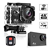 SLPRO® Action Cam 4K WIFI Camera Ultra Full HD Unterwasser Kamera Helmkamera Wasserdicht...
