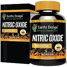 Extreme NO2 Refuerzo Óxido Nítrico para hombres. Fórmula preentrenamiento L-arginina y L-glutamina. Usado por culturistas para aumentar músculo y levantar más pesas. Más fuerza y resistencia, 60 cáps