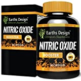 Nitric Oxide - No2 - Pre Workout Formula with Arginine, Citrulline, Beta Alanine - 60 Capsules by Earths Design