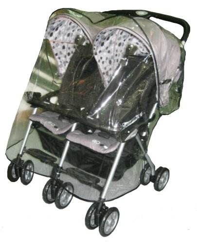 Sasha Kiddie Combi 3R Combi Twin Sport EX Double Side by Side Stroller Rain and Wind Cover - Stroller Not Included