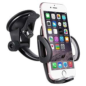 BrainWizz Fly - Supporto da Auto / Porta Cellulare Universale per iPhone, Smartphone Android, Telefoni Cellulari e Navigatori da Auto di Larghezza 5 cm - 9 cm 360 Gradi di Rotazione