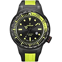 Poseidon Herren-Armbanduhr XL SCUBA PRO Analog Quarz Kautschuk K2081243023-00394