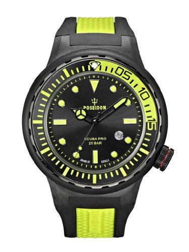 Kienzle POSEIDON XL SCUBA PRO K2081243023-00394 - Reloj analógico de cuarzo para hombre, correa de goma multicolor