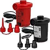 Deuba Elektrische Luftpumpe Elektropumpe | inkl. 3 Aufsätze | mit Kfz-Ladekabel | Zum auf- und Abpumpen