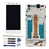 Full LCD display Digitizer Touch Screen Ecran Vitre Tactile Assembly Remplacement Pour Huawei Honor 5A/Y6II Y6 II CAM-L23 CAM-L03 CAM-L21 CAM-AL00 (white w/frame)