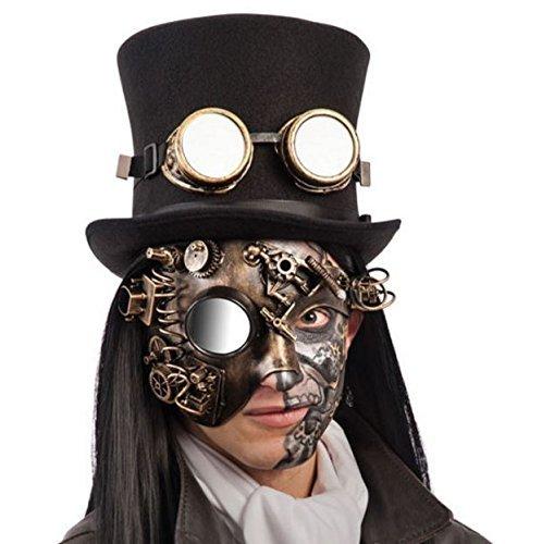 Máscara mecánica con monóculo de plástico duro
