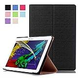 Tasche für Lenovo Tab 2 A10-30 A10-70F / Tab 10 TB-X103F 10.1 Zoll Schutz Hülle Flip Tablet Cover Case A10-70L (Schwarz)