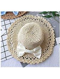 Bonnet Infantile Chapeau de paille gonflable pour enfants Bowknot Chapeau  de plage pour chapeau de protection 4aae2b37675