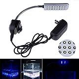 Glighone LED Aquarium Beleuchtung Lampe 48 LEDs für 30-60 cm Aquarien 360°flexibel mit Touch-Schalter 3W