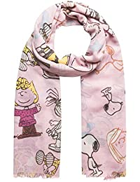 60cc11b59ddcc CODELLO Damen Schal Peanuts Snoopy Motiv 82063808 Blau und Pink